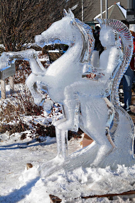 Ice Carving Spartan
