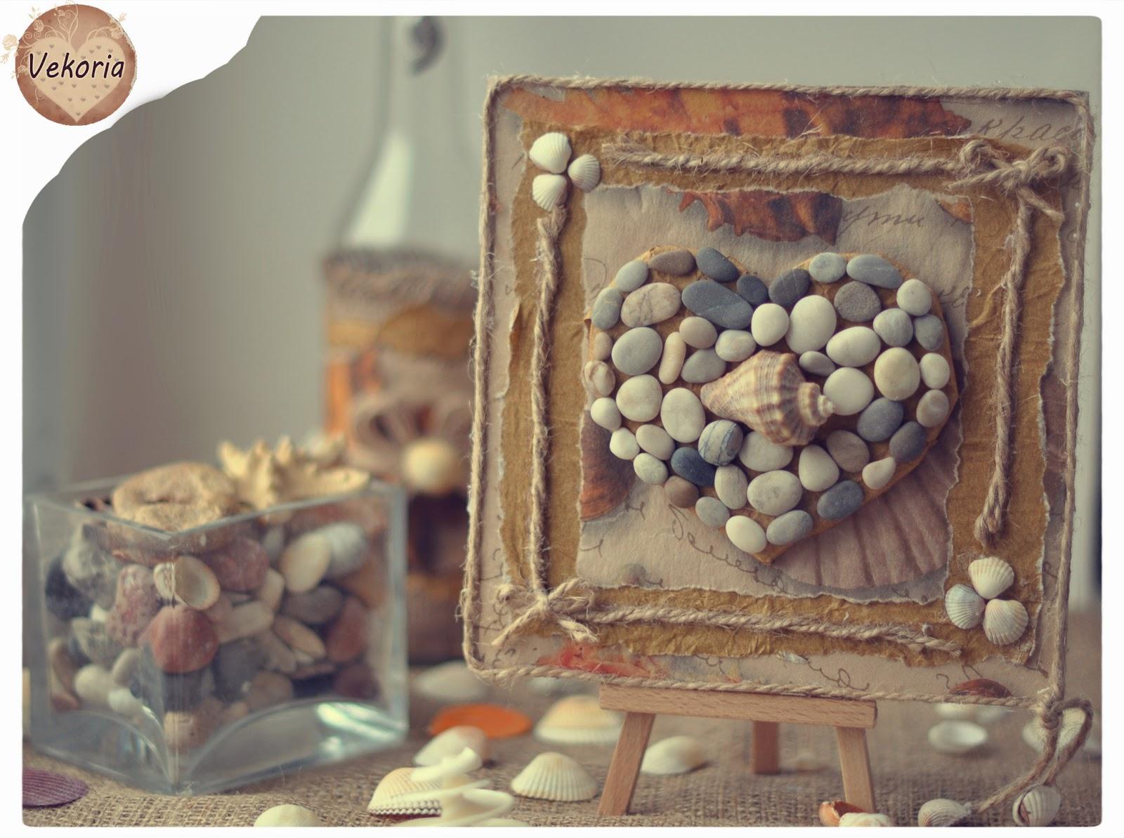 Подарок из камней своими руками