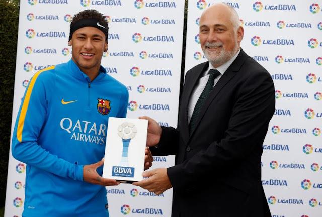 Neymar é eleito o craque de La Liga em novembro