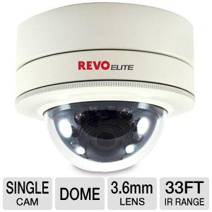 Revo Elite REVDM600-1 Dome Security Camera - 3.6mm Lens, 600TVL, 33