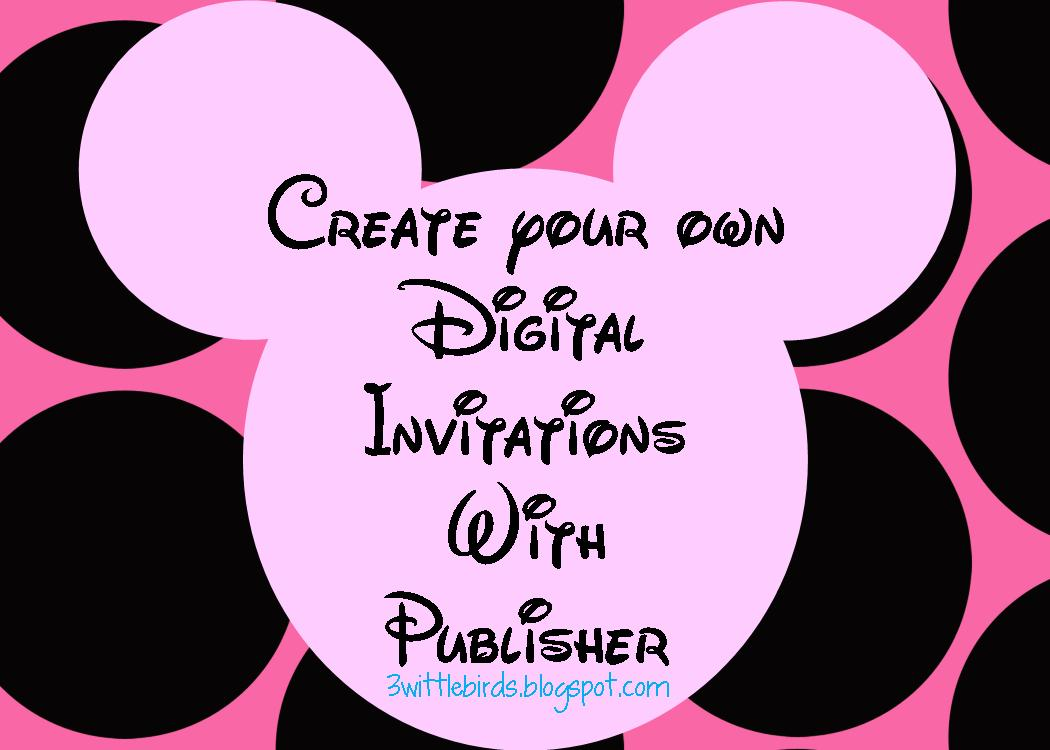 Minnie Mouse Digital Invites