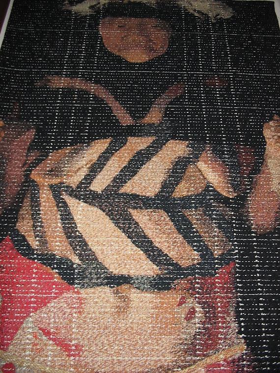 SCHUCMAN, Henrique. Detalhe de tapeçaria na técnica de Gobelin.. Foto: Schucman.