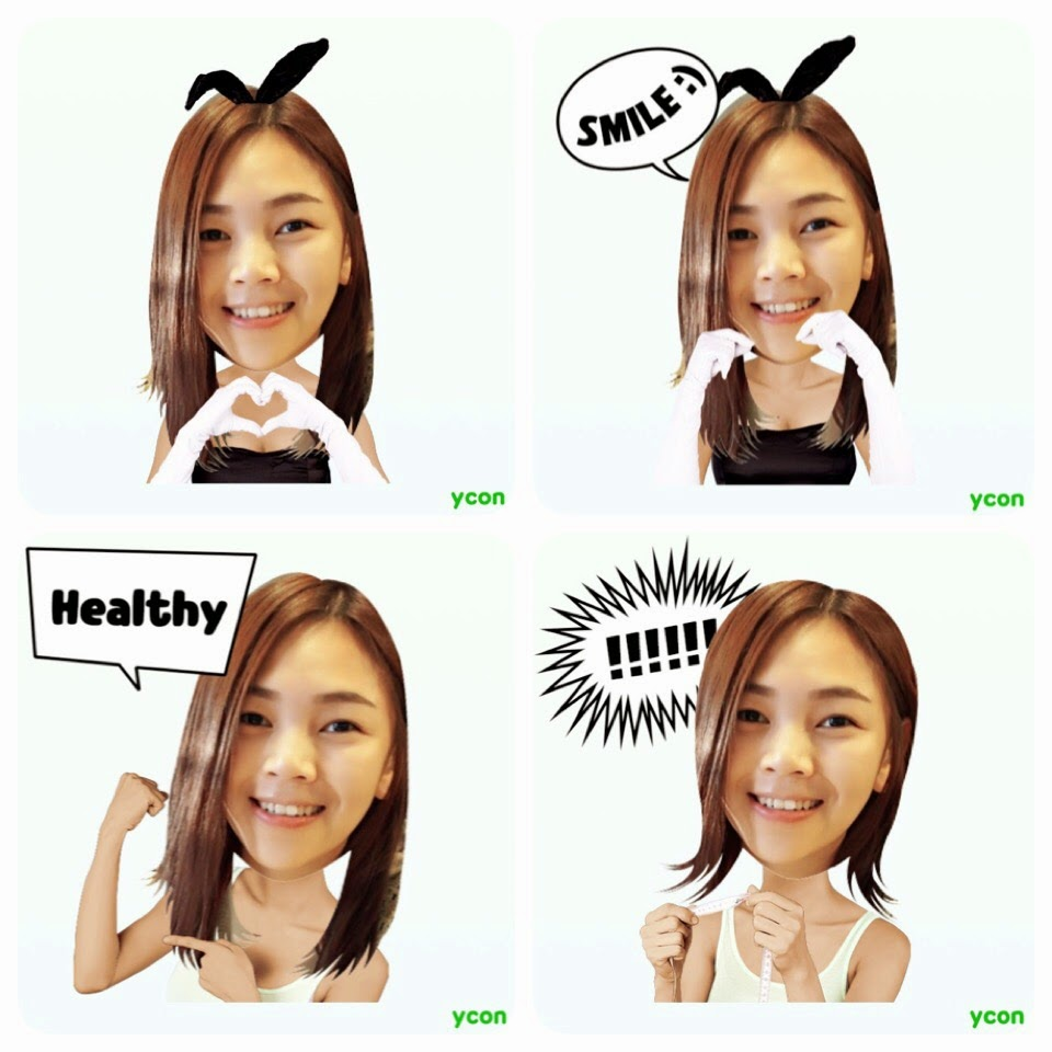 Make your own stickers for wechat or line with ycon