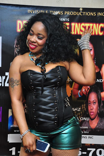 "AfroCandy flaunts hot bod at her ""Destructive Instinct ""movie premiere in NY"