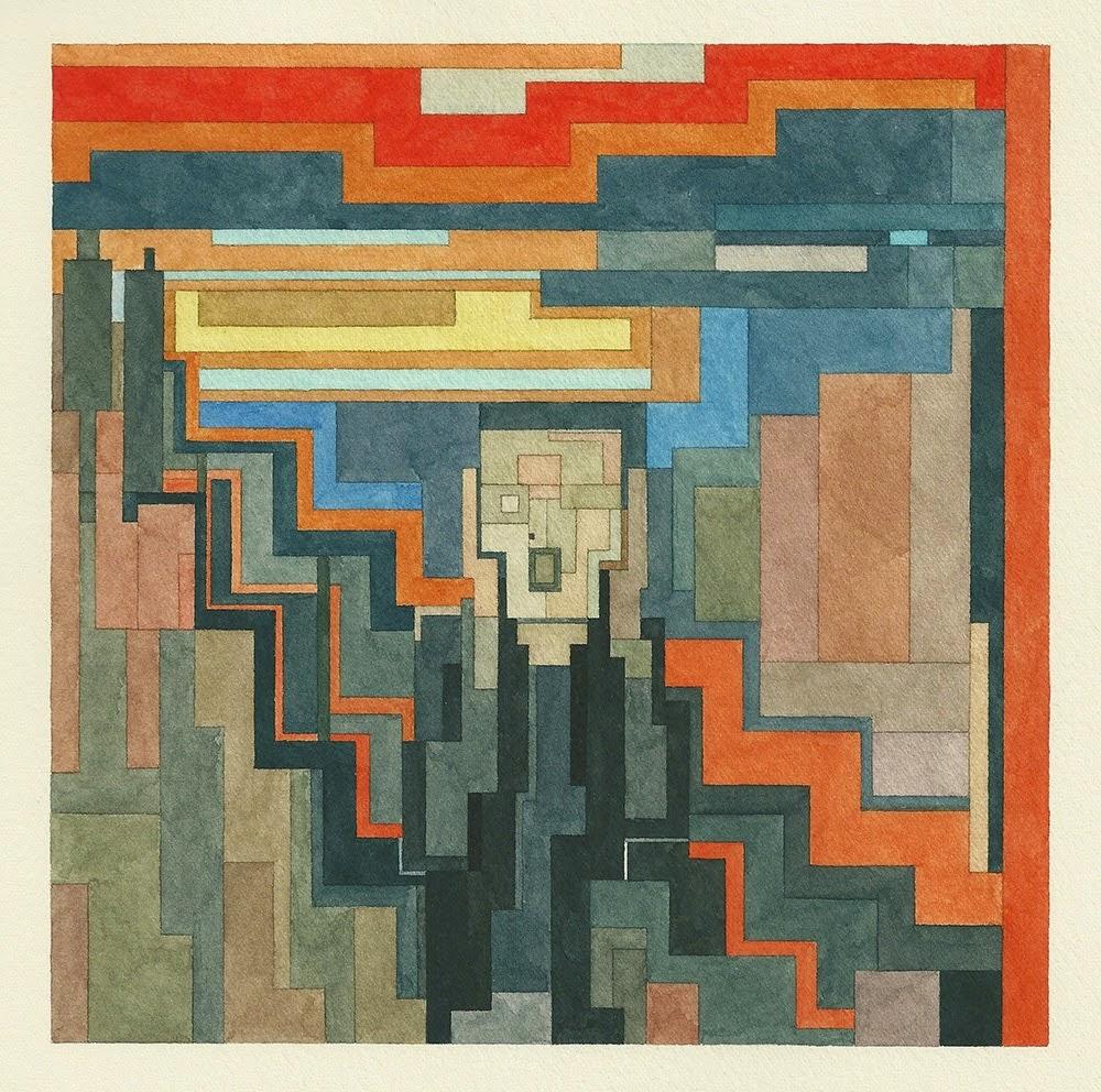Adam Lister, acuarelas 8 bits, El Grito