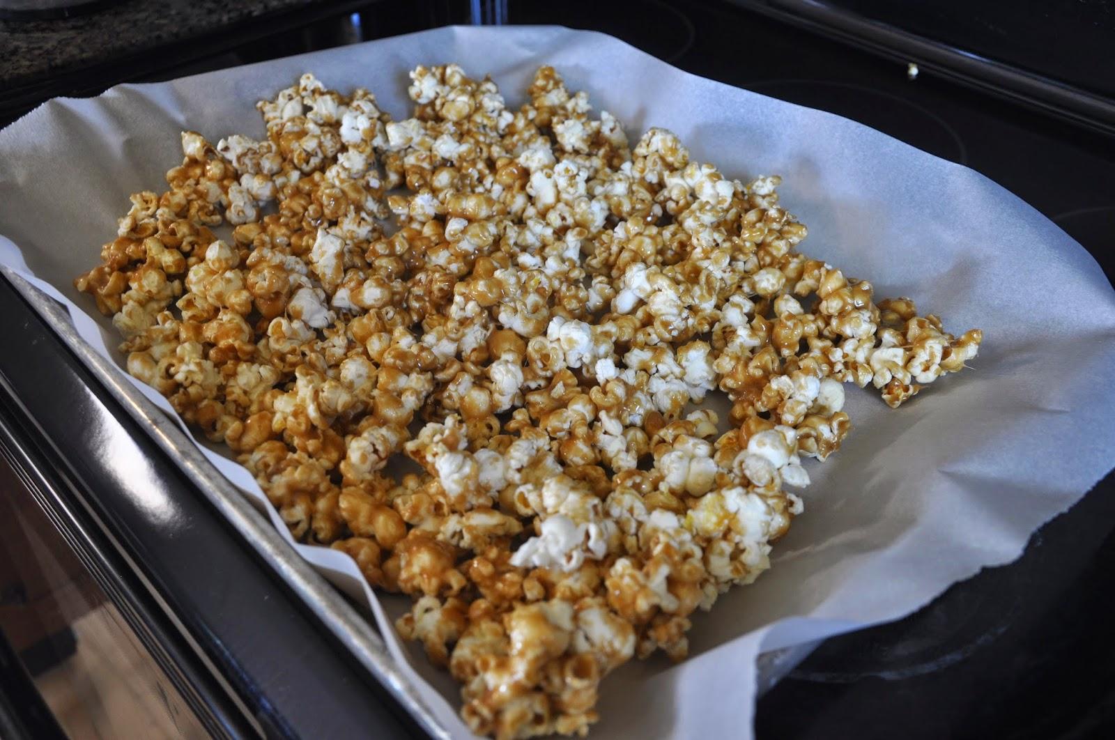 how to make caramel popcorn easy
