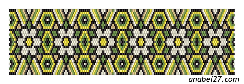 Схемы мозаичных браслетов