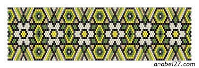 схема мозаичное плетение цветочки бисер бисероплетение peyote pattern beaded bracelet