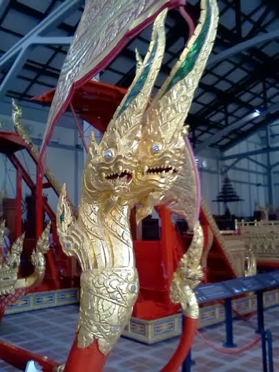 Royal Palanquin in the Royal Chariot Garage at the National Museum in Bangkok.