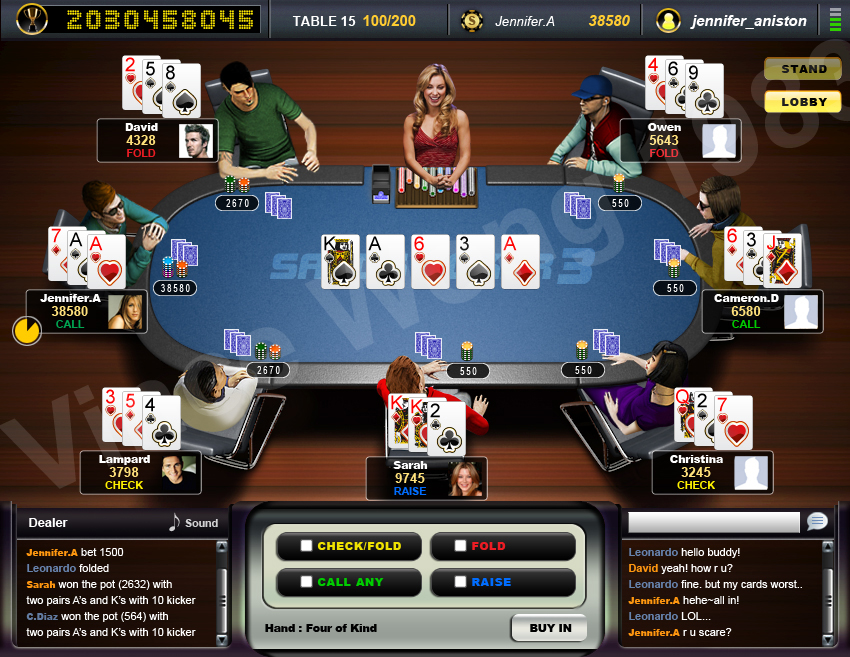 Poker game architecture