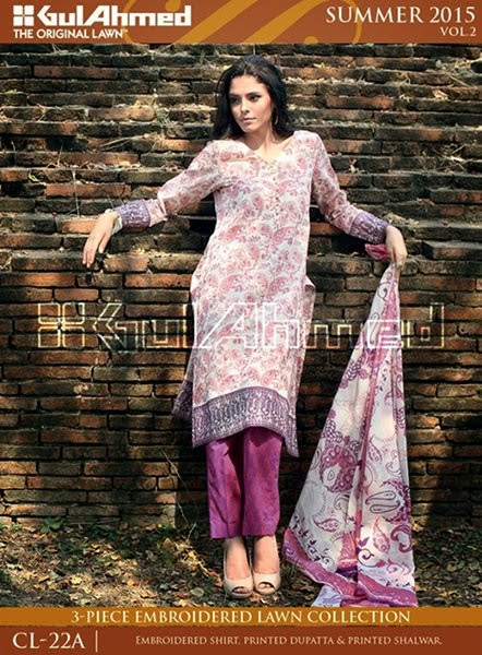 Gul Ahmed Summer Wear Women Dresses 2015