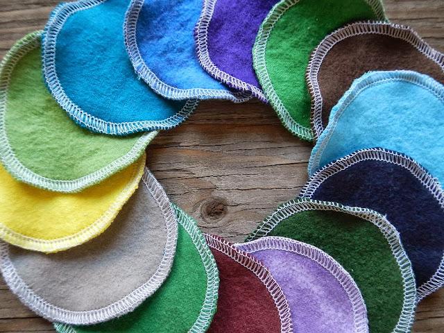 reusable cloth facial pads natural body care