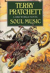 """Cover of """"Soul Music"""", a novel by Terry Pratchett"""