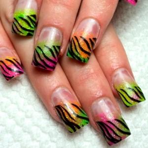 saranje noktiju - animal print nokti 006