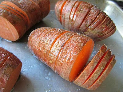 Hasselback Sweet Potatoes w/ Sage Butter