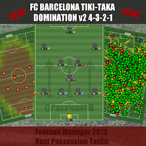 Football Manager 2013 possession tactic Barcelona Tiki-Taka