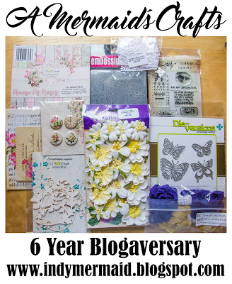 A Mermaid's Crafts 6 year Blogaversary Giveaway