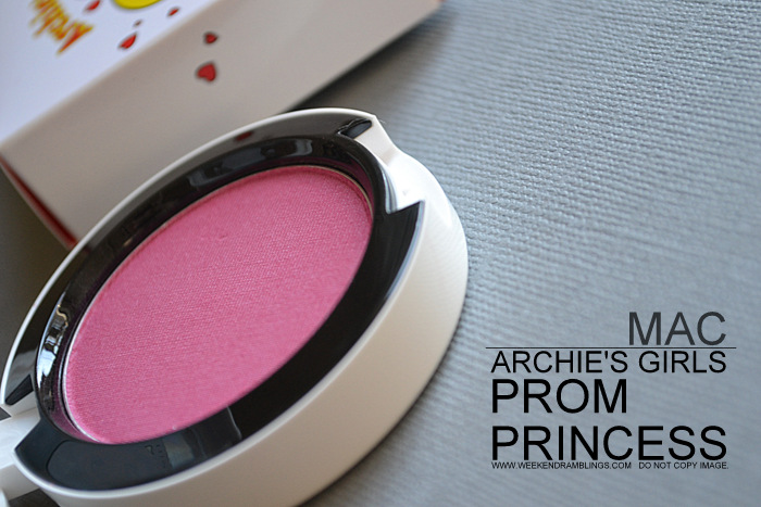 MAC Cosmetics Pink Violet Satin Prom Princess Powder Blush Archies Girls Makeup Collection Indian Beauty Blog Darker Skin Reviews Swatches FOTD Looks Ingredients