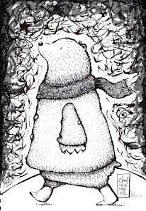 L'ourson et ses pensées d'hiver