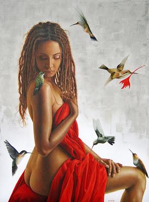 pintura-de-mujer-con-aves