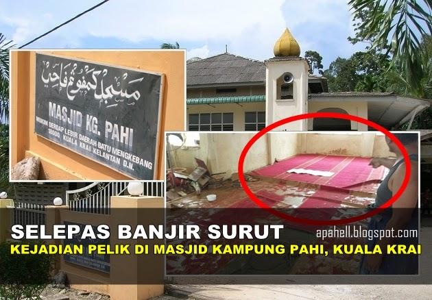Subhanallah!! Kejadian Pelik Selepas Banjir di Masjid Kampung Pahi, Kuala Krai - http://apahell.blogspot.com/2015/01/subhanallah-kejadian-pelik-selepas.html
