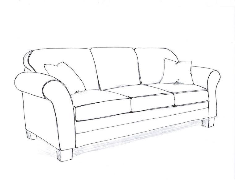 How to draw a sofa for Sofa design sketch