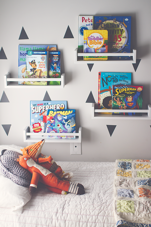 Home Tour: Boys Bedroom Decor | A Modern Classic shared space for Toddler/Preschool boys | Bright, clean & functional with both nautical and whimsical influences.