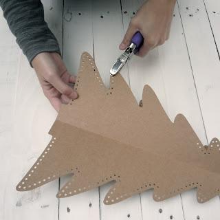 decoracion arbol de navidad de carton self packaging