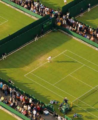 オールドイングランドテニスクラブ 外コート (イメージ:Wimbledon.com Queque Guide 2014)