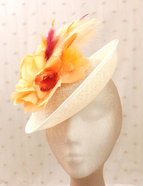 Colección Comemeriendas - Tocado Plato Bouquet naranja