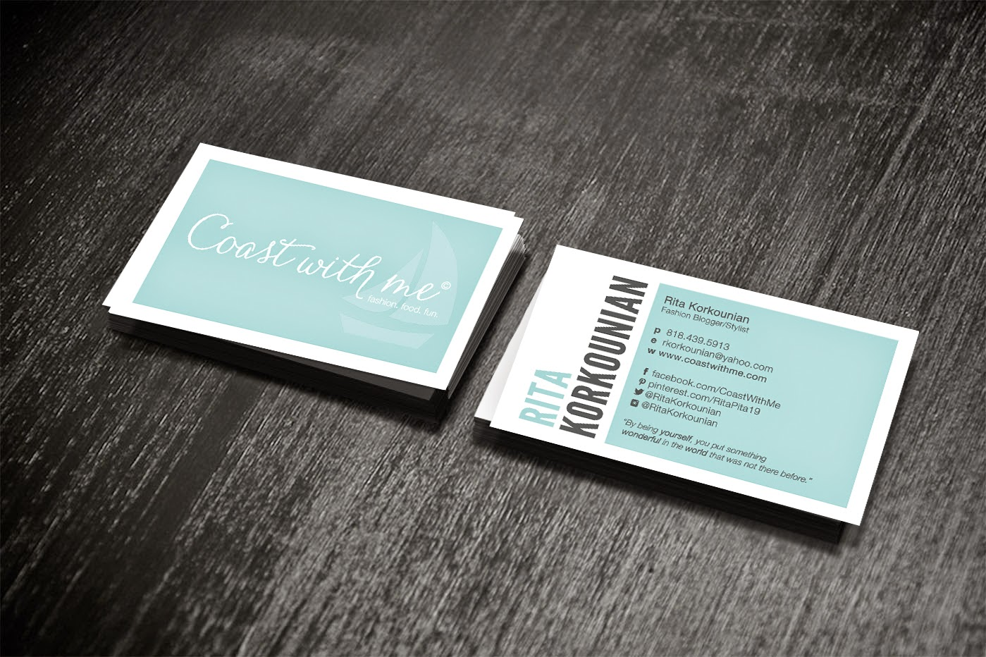 Coast With Me: Blogger Business Cards