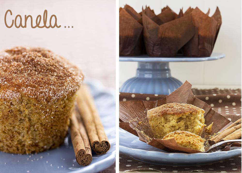 receta de muffins de canela