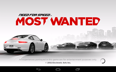 NFS Most Wanted: Launch Screen