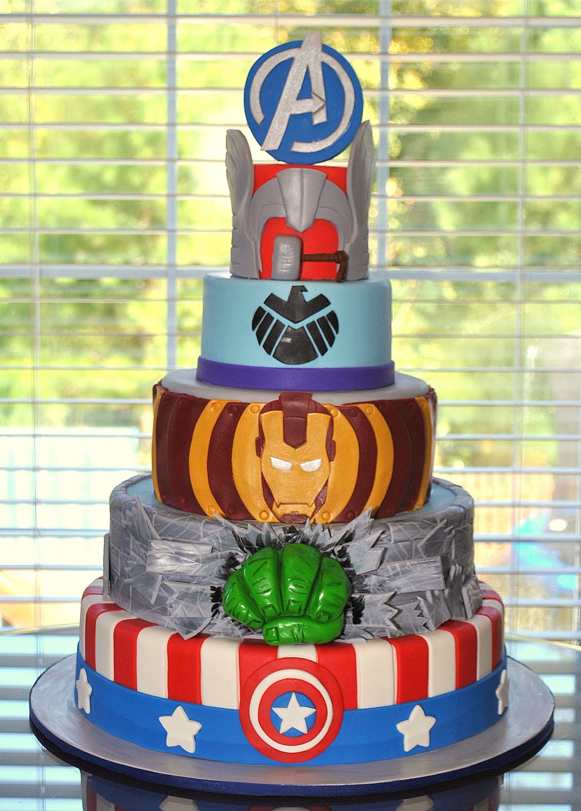 Hope s Sweet Cakes: Avengers Cake and Party