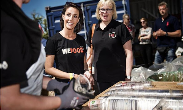 Princess Marie of Denmark her role as patron of DanChurchAid (DCA) participated in the Roskilde Festival activities