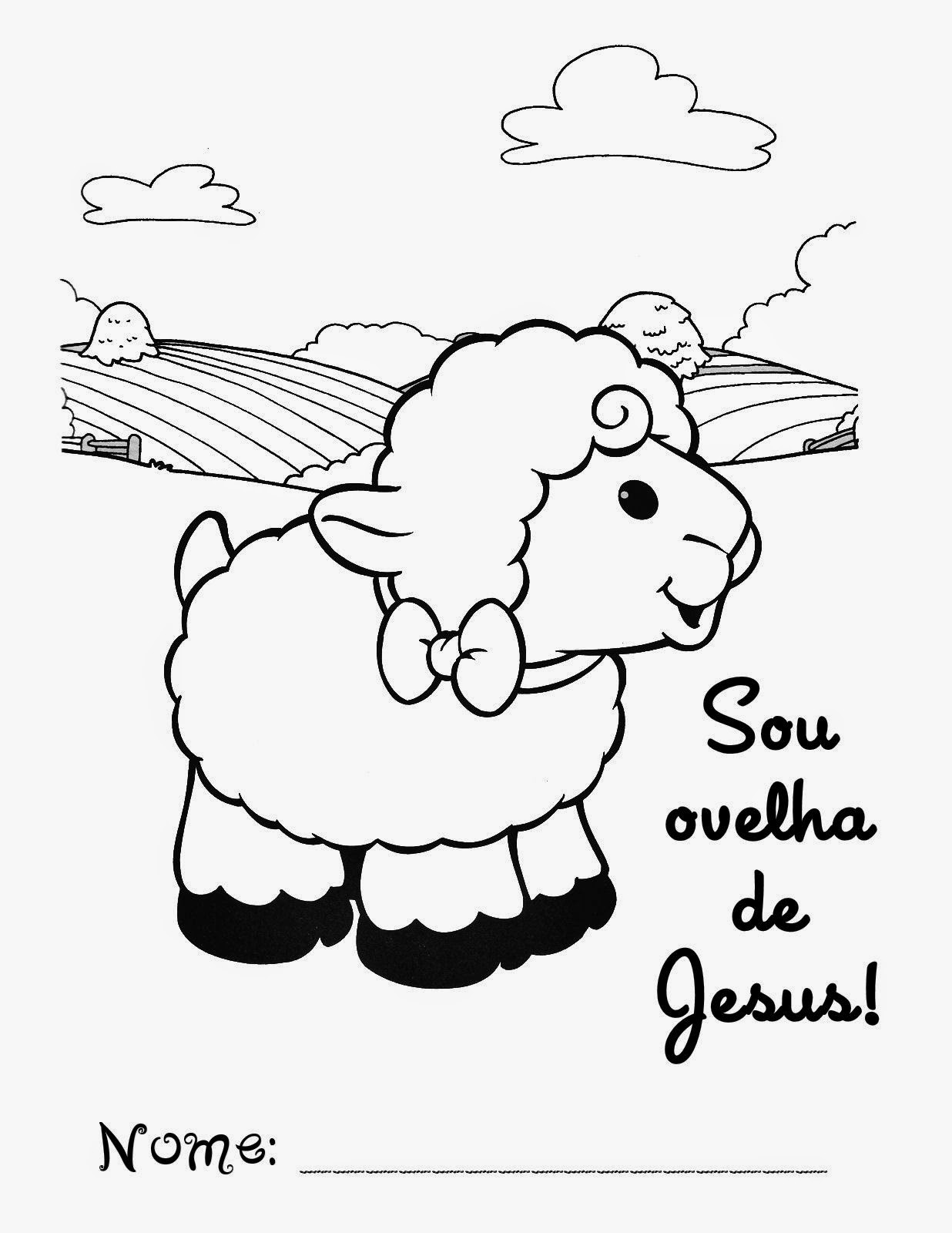 Linda Oveja para Colorear. | Oh My Bebé!