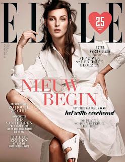 Magazine Cover : Julia Bergshoeff Magazine Photoshoot Pics on Elle Magazine Netherlands February 2014 Issue