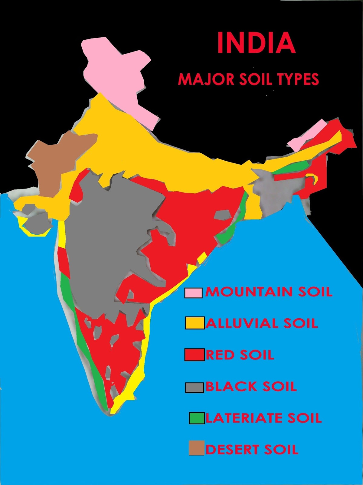indian maps showing each states in differnet colors consisting of 29 states
