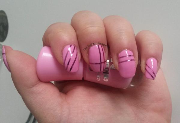 The Nail Art Blogger Metallic Taping Nail Art