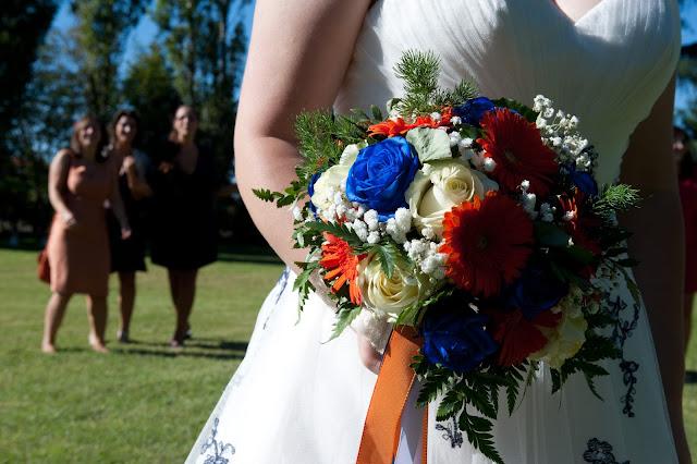 matrimonio con lo sponsor chiara e maurizio lancio del bouquet