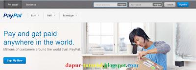 Halaman Muka Web Paypal