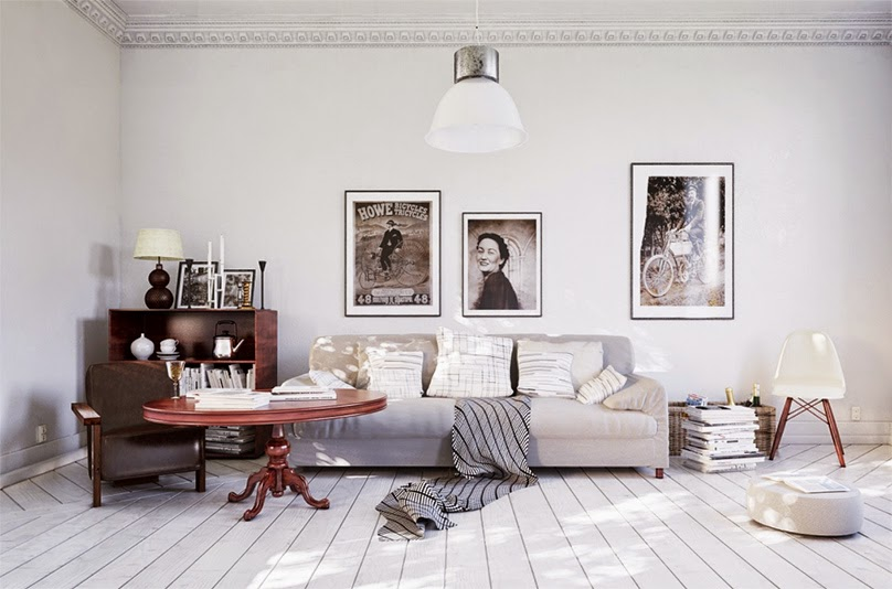 30 inspirations d co pour votre salon blog d co mydecolab - Deco vintage scandinave ...