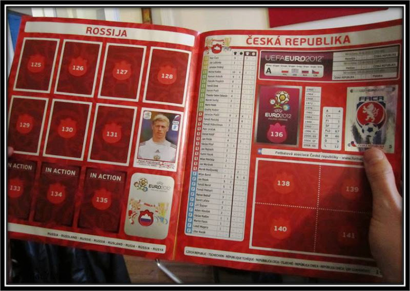 Album Panini Euro 2012 Republique tcheque Thatsmee