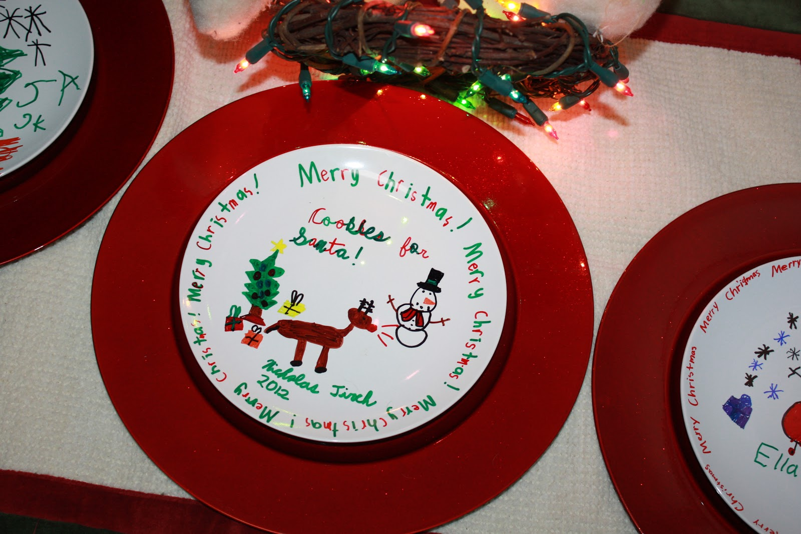 mom swim bike run easy kid craft how to decorate a christmas plate with a sharpie