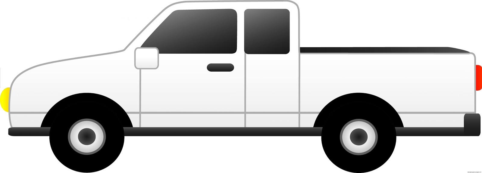 White Pickup Truck Clip Art