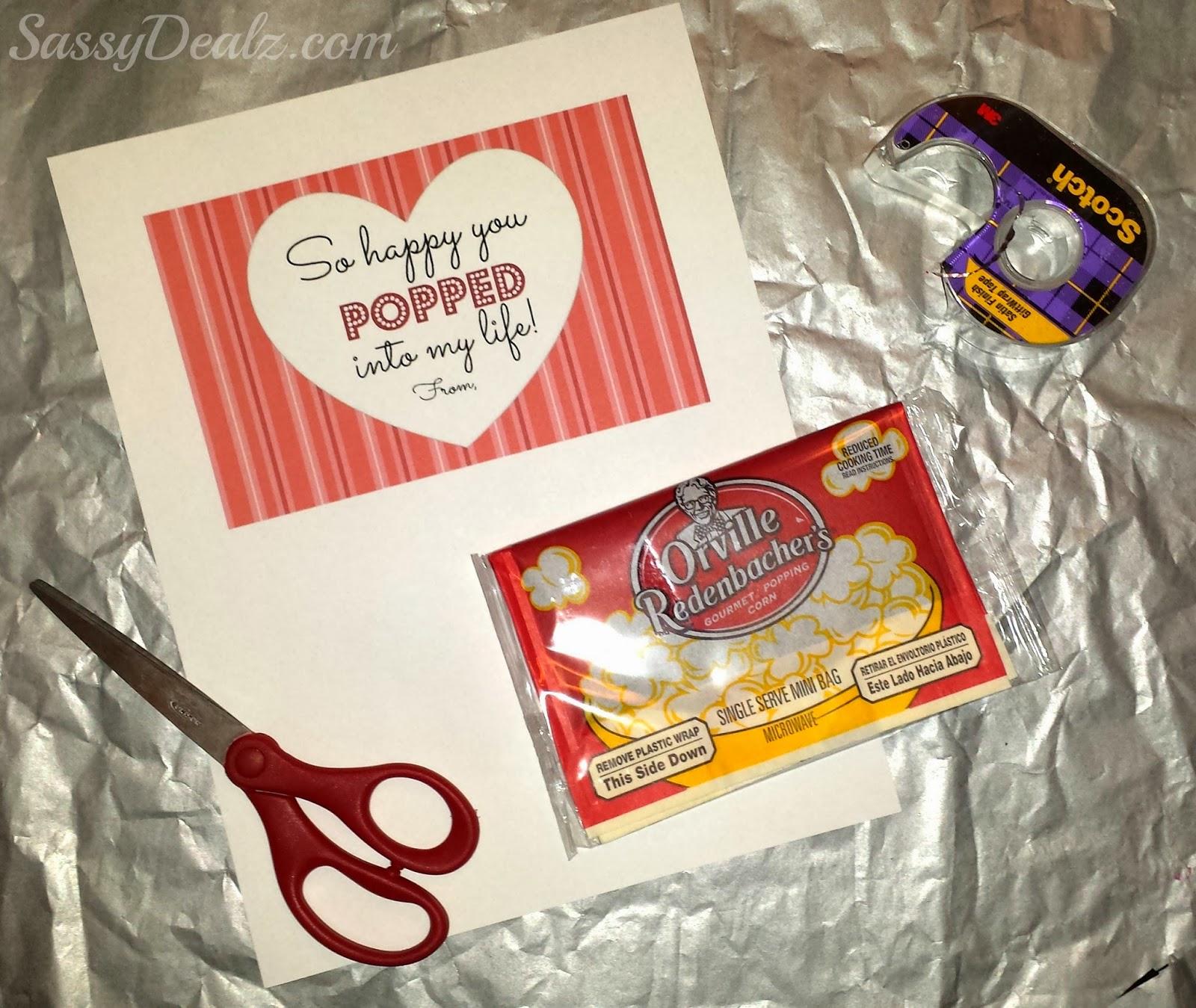 popcorn valentines class treat