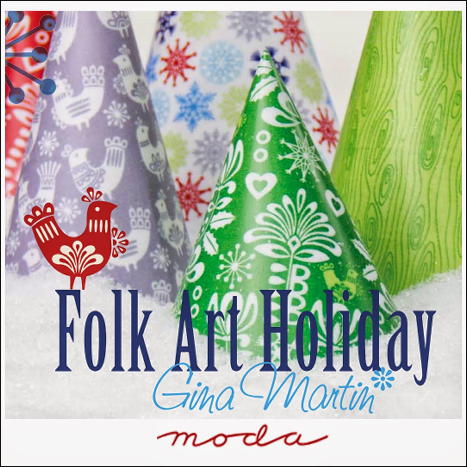 Moda FOLK ART HOLIDAY Christmas Quilt Fabric by Gina Martin for Moda Fabrics