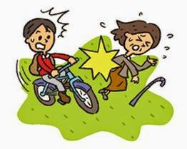 小学生と中学生では、自転車の乗り方が違います