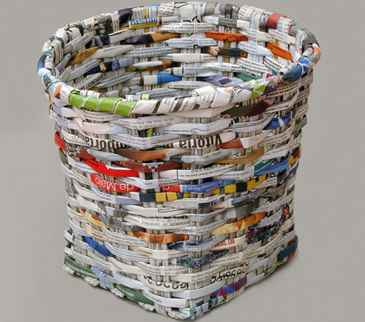 How to recycle recycled newspaper ideas for Images of decorative items made from waste material