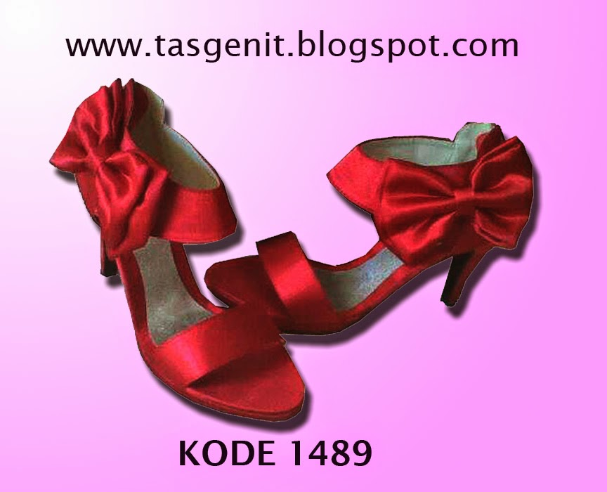 sepatu cantik, red shoes, shoe, party shoe